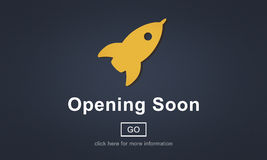 Opening Soon Launch Welcome Advertising Commercial Concept Stock Image