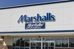 Lafayette - Circa September 2017: Opening Soon - Marshalls Retail Strip Mall Location III. Opening Soon - Marshalls Retail Strip Mall Location. Marshalls is a Stock Photo