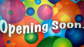 Opening soon Royalty Free Stock Image