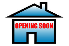 Opening soon sign. For bank finance home insurance housing real estate realtor government and etc Stock Images