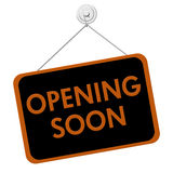 Opening Soon Sign Royalty Free Stock Photos
