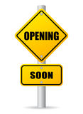 Opening soon sign Royalty Free Stock Image