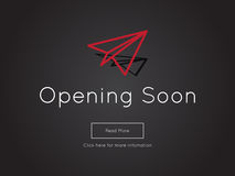 Opening Soon for website template Stock Photo