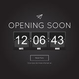 Opening Soon for website template Royalty Free Stock Photography