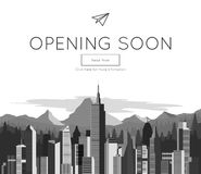 Opening Soon for website template Stock Image