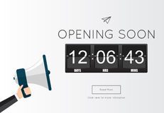 Opening Soon for website template Royalty Free Stock Photo