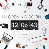 Opening Soon for website template Royalty Free Stock Image