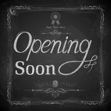 Opening Soon written on chalkboard Royalty Free Stock Image