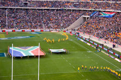 The opening of the South Africa vs New Zealand Rug Stock Photos