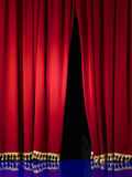 Opening in stage curtain Royalty Free Stock Image