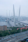 Opening of suspension bridge in Vladivostok Stock Images