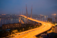 Opening of the suspension bridge in Vladivostok Stock Image