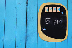 Opening time tag Stock Photos