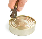 Opening a tin Stock Images