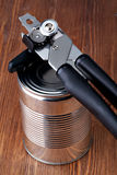 Opening tin can Royalty Free Stock Photo