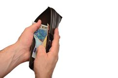 Opening Wallet Royalty Free Stock Photo