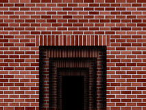 Opening in walls illustration Stock Photos