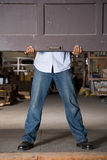 Opening warehouse door Stock Photo