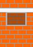 Opening a window in a brick wall. Royalty Free Stock Photo