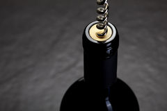 Opening wine Stock Photography