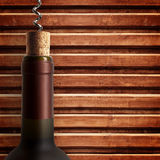 Opening wine bottle Stock Photography