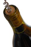 Opening a wine bottle Royalty Free Stock Image
