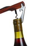 Opening a wine bottle Royalty Free Stock Photo