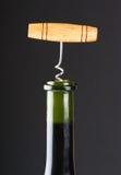 Opening wine bottle close-up Stock Photo
