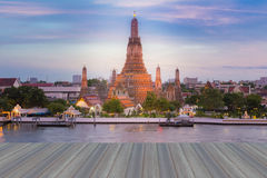 Opening wooden floor, Temple of Dawn, Wat Arun Royalty Free Stock Photos