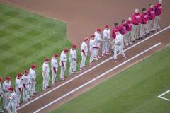 Openings ceremonie van de Nationale Reeks van het Kampioenschap van de Liga Royalty-vrije Stock Foto