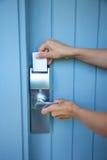 Openings metaal slot-kaart Royalty-vrije Stock Afbeelding