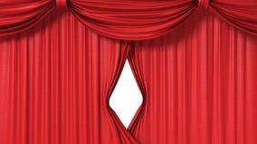 Openings rood gordijn Royalty-vrije Stock Foto's