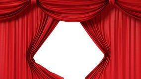 Openings rood gordijn Stock Fotografie