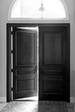 Openings of sluitende deur Royalty-vrije Stock Afbeelding