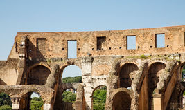 Openings in Wall of Coliseum Stock Image