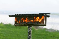 Openlucht bbq kuil Stock Foto