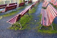 Openlucht benchs Stock Foto