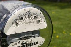 Openlucht elektrische meter stock afbeelding