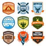 Openlucht emblemen stock illustratie