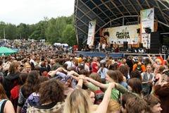 Openlucht festival van volksmuziek Wilde Munt royalty-vrije stock foto's