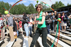Openlucht festival van volksmuziek Wilde Munt royalty-vrije stock fotografie