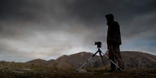 Openlucht fotograaf Stock Afbeeldingen