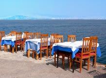 In openlucht het dineren Stock Fotografie