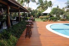 Openlucht hotel zwembad Stock Foto