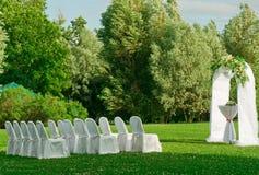 In openlucht huwelijksceremonie Stock Foto