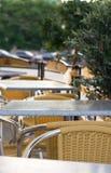 Openlucht koffie Royalty-vrije Stock Afbeeldingen