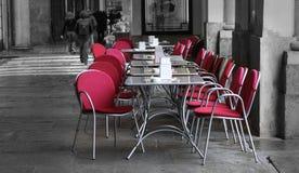 Openlucht koffie Royalty-vrije Stock Afbeelding