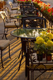 In openlucht koffie in het zonlicht Royalty-vrije Stock Afbeeldingen