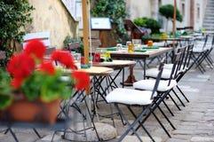 Openlucht koffie in Italië Royalty-vrije Stock Foto's