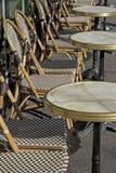 Openlucht koffie Parijs Royalty-vrije Stock Afbeeldingen
